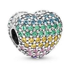 Pandora Colorful Heart Charm